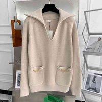 2021ss designer women tech fleece knitted sweater hoodie coat high-end round neck pullover logo brand autumn long sleeve coats jackets tops womens designer clothes