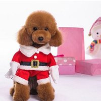 Dog Apparel Father Christmas Clothes Holiday Funny Small Dogs Santa Costume for Pug Chihuahua Yorkshire Pet Cat Clothing Jacket Coat Pets