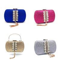 Luxy Mond Frauen Kristall Clutch Geldbörse Gold Pailletten Abendtasche Luxus Handtasche Party Hochzeits Geldbörse Mode Quaste Brieftasche ZD1476