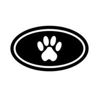 Sevimli Kişilik Karikatür Oval Köpek Paw Moda Araba Pencere Sticker Çeşitli Araba Modelleri Için Araba Sticker Siyah / Beyaz, 16 * 9 cm