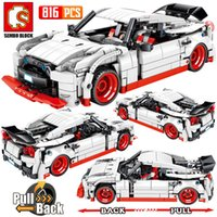 SEMBO City Trav Fack Extreme Speed Super Racing Автомобиль Строительные блоки Техника Суперкар Функциональная Модель Кирпичи Игрушка для мальчиков 1008