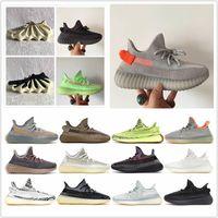 En Kaliteli 2021 Terlik Koşu Ayakkabıları Kül Taş Inci Siyah Statik Yansıtıcı Kum Taupe Çöl Sage Zebra Karbon Zyon Erkek Kadın Eğitmenler Sneakers