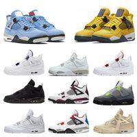 2021 Sapatos de Basquete de Mens 4 Universidade Azul Sail Red Court Roxo Gato Preto 4s Volt Criado Cacto Cacto Puro Dinheiro Moda Homens Mulheres Sneakers Treinadores US5.5-12