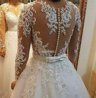 진주 구슬 2 in 1 Brazil 웨딩 드레스 2021 Vestido de Novia 레이스 아플리케 분리형 열차 라인 웨딩 드레스 W0278