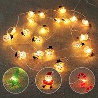2M Santa Claus Christmas Tree LED String Lights Garland Snowflakes Christmas-Decoration for Home Fairy Light New Year Xmas Decor