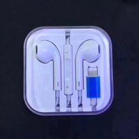 이어폰 이어폰 블루투스 번개 와이어 이어폰 iPhone 7 8 x 11 12 플러스 프로 Max SE 스테레오 이어폰 마이크 및 원격 제어 헤드셋