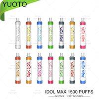 Yuoto Shine Descartável E Cigarros Kit de Dispositivos 1500 Puffs Recarregável 1200mAh Bateria Prefreado 6ml Vape Vape Puff Bar Bar