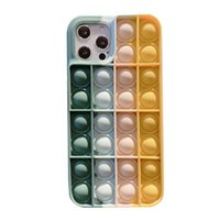Fidget Toys Pop It Thinking Chess Creative Soft Silicone Decompression Phone Case for Iphone11 Simple Dimple Squishmallow #11 Q0422