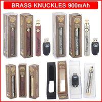 Messing-Knöchel Vorwärmen Batterie 900mAh Dampfstift Eingestellte Spannung Fit 510 Gewindekassette Gold Holz Bk Batterien