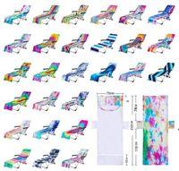 Krawatte Dye Beach Stuhlabdeckung mit Seitentasche Bunte Chaisel-Lounge Handtuchabdeckungen für Sun-Lounger Pool Sonnenbaden Garten Meer Versand HHC7572