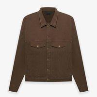 Europe USA 7th French Terry Trucker Cargo Jeans Jacket Cool Men Outdoor Windbreaker Casual Outwear Women Coat