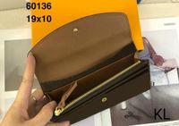 Frau Reißverschluss Kupplungsklappe Button Frauen Lange Emilie Brieftaschen M60697 Exotische Halter Zipper Münze Klassische Geldbörse Tasche Karten Taschen
