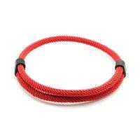 Charm Bracelets Trendy Thread Bracelet Mens Women Adjustable Red Braslet for Lovers Distance Couple Brazalete Minimalist Yoga Meditation Braclet