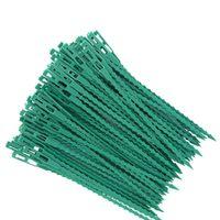 Autres Fournitures de jardin 50 / 100pcs Câbles réutilisables Cadres de câble Prise de vue de l'usine Arbustes d'arborescentes Fixation d'arbre Verrouillage Nylon Réglable Outils plastiques