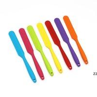 여러 가지 빛깔의 케이크 주걱 식사 실리콘 혼합 배터 반죽 스크레이퍼 긴 취급 버터 나이프 베이킹 쿡 도구 HWE10214
