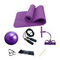 Tapetes de Yoga Mat Four-Piece Terno Anti-Skid Sports Fitness 10mmthick NBR conforto espuma Mafor Yoga, e ginástica de Pilates