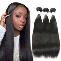 Pelucas rectas de cabello humano paquetes 100% mujer remy igualmente cutícula completa Tejido brasileño para mujeres negras