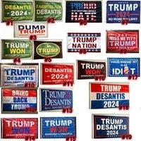 New Donald-Trump Bandiere 3x5 ft USA Presidente Election flag 2024 Make America Florida Desaantis Trump ha vinto banner-flags Ocean Freight Zza7108