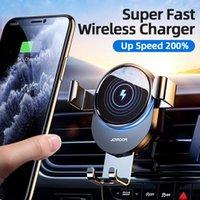15W Qi Titolare del telefono Car Caricatore senza fili Caricatore auto Azzurro Infrarossi Intelligent per Air Vent Mount Car Caricatore Wireless Foreids Xiaomi