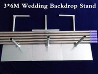3MX6M Telescopic Wedding Backdrop Stand with expandable Rods Background Frame Adjustable Stainless Steel Pipe Party Event props