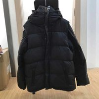 Sleeve Remove Men Women Down Puffer Jacket Oblique Full Body Letter Appliques Tags Designer Male Warm Zipper Outwear Stand Plaid Collars Winter Coat Mens Clothes