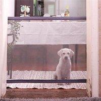Casas de perros Accesorios de perros Instalación Gates Gates Ramps Bloque de valla interior Pantalla para mascotas Puerta de malla Puerta para el hogar Mascotas domésticas Insu