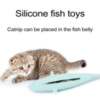 Cat Toys Catnip Silicone Mint Fish Chew Toy Pet Clean Teeth Toothbrush Molar For Kitten Eco-Friendly Stick #1