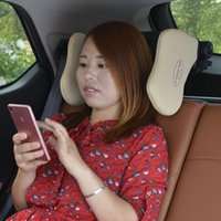 Seat Cushions Car Headrest Pillow Travel Rest Neck Support Solution For Kids And Adults Auto Head Cushion