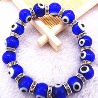Turkey Acrylic Religious Bead Evil Blue Beaded Eyes Bangles For Woman Jewelry Bracelet