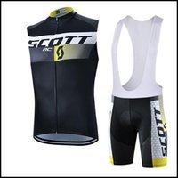 Scott Team Cycling sin mangas Jersey Chaleco Pantalones cortos BIB Sets Hombre Mountain Bike Ropa Cómoda transpirable
