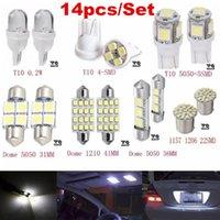 Notbeleuchtung 14pcs / satz LED 1157 T10 31/36 / 41mm Auto Auto-Interieur-Karte Dome-Kennzeichen Ersatz Light Kit White Lampensatz