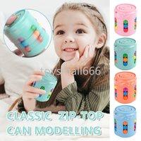 어린이의 새로운 마법 회전 콩 회전 할 수있는 자이로 손가락 스트레스 구호 게임 나무 마술 콩 IQ 스펠 감압 장난감