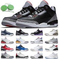 aj retro 3 3s Mocha Erkekler Basketbol Ayakkabıları Klorofil Tinker JTH NRG Ücretsiz Atış Hattı Katrina Beyaz Siyah Çimento Spor Tasarımcısı Eğitmen Sneaker Boyutu