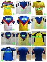 Retro 2001 2002 América Mexico Club League CA Futebol Jerseys Vintage Camiseta de Futbol Home Amarelo 01 02 Liga MX Football Shirts