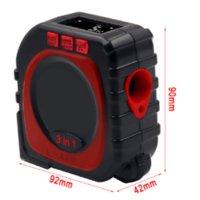 Mit Rollenmodus Laser Digital Tape Messen Professionelles Werkzeug 3-in-1 Hochpräzise Bandmessung LED-Digitalanzeige