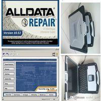 ALLDATA 10.53 Ferramenta de software instalada em um computador de tela do laptop HDD 1TB do HDD de reparo do CF30