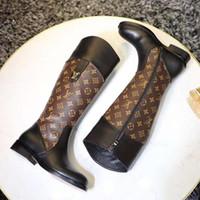 Shaspet Высокое Качество Женщины Ботинки Обувь Мода Круглый Носок Платформа Платформа Каблуки Обувь на молнии Женщины Плюс Размер Роскошные Женские Сапоги Botas De Mujer F20