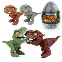 4 шт. Палец динозавров яйцо игрушка творческий хитрый тираннозавр модель динозавров игрушка детские подарки G99C 1809 Z2