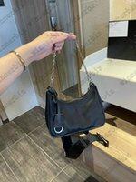 RE EDITION 2005 Piccolo Black Black Lusso Multi Nylon Bag Pra Browbody Crossbody Catena donna Hobo Bags Borse di alta qualità Borsa