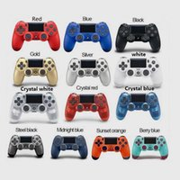 I controller wireless PS4 Wireless Joystick Shock Console Controller Bluetooth Gamepad per Sony PlayStation Play Station 4 Vibration Game Pad Accessorio con scatola al minuto