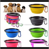 Bowls Feeder Reise-zusammenklappbare Haustierhundkatze-Fütterungsschale Wasser-Teller-Feeder-Sile Faltbare 9 Farben, um Ti86A LSU3Y zu wählen