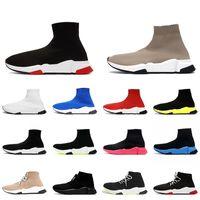 Lüks Moda Bayan Erkek Tasarımcı Çorap Ayakkabı Siyah Kırmızı Bej Beyaz Graffiti Temizle Sole Paris Runner Rahat Çorap Eğitmenler Sneakers Tasarımcılar Çizmeler Van Kapalı Loafer'lar