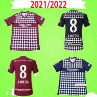 21 22 J1 League Vissel Soccer Japão Japão 2021 2022 Home Away Futebol Camisas Uniforme Gotoku A.iniesta David Villa Podolski Samper Iniesta