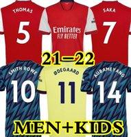 21 22 Arsen Soccer Jersey Thomas Pepe Saka Tierney Smith Rowe 2021 2022 كرة القدم قميص كيد تافاريس كيت موحد سامبي لوكونجا بن أبيض ثالثي الرجال + أطفال
