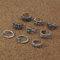 Handmade 925 Sterling Silver Cruzes Ajustável Banda Anéis Americano Europeu Punk Gothic Antique Designer de Luxo Acessórios de Jóias Presentes