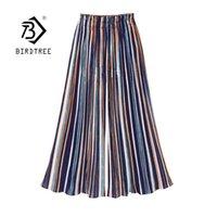 Yaz Geniş Bacak Şifon Pantolon Kadınlar Için Artı Boyutu Rahat Elastik Yüksek Bel Ayak Bileği Uzunlukta Pantolon Pileli Pantolon Pantolon B14405X 210419