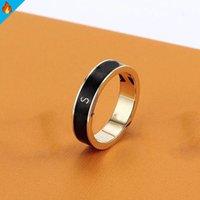 Moda anéis de ouro para homens anel de luxo anel amor senhora desenhista mens baga jóias de aço inoxidável carta de aniversário presente presente
