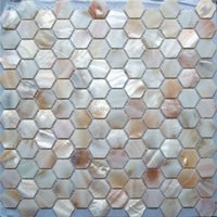 Wallpapers Mother Of Pearl Mosaic Tile For Home Decoration Backsplash And Bathroom Wall Hexagon Pattern 1 Square Meter/lot AL076