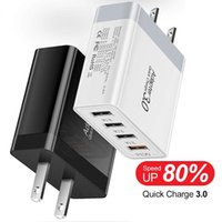 QC3. 0 4 Usb Ports fast quick Wall Charger For iphone Samsung...