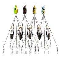 Arms Rig Pesca Esche Ombrello Ombrello Gruppo Alabama 21.5 cm 18g con ganci da esterno per sequin